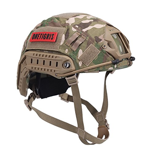 OneTigris PJ Type Tactical Helmet for Airsoft Paintball with Helmet Cloth Cover (Multicam)