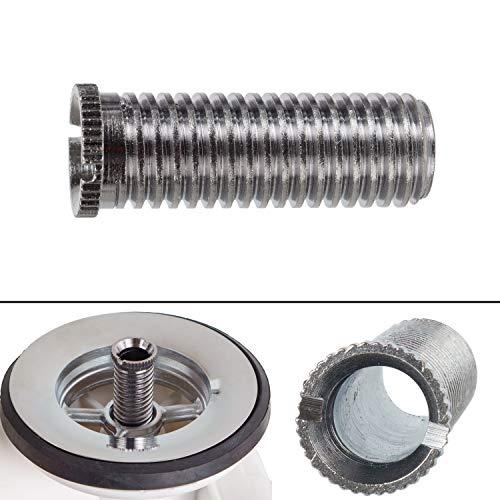"""Tornillo hueco para válvula de fregadero, tornillo M12 x 1.5 x 35, longitud 35 mm, rosca de 12 mm, cabeza de 13 mm, interior de 8 mm, universalmente adecuado para drenajes de válvulas con 1.5"""" y 3.5"""""""