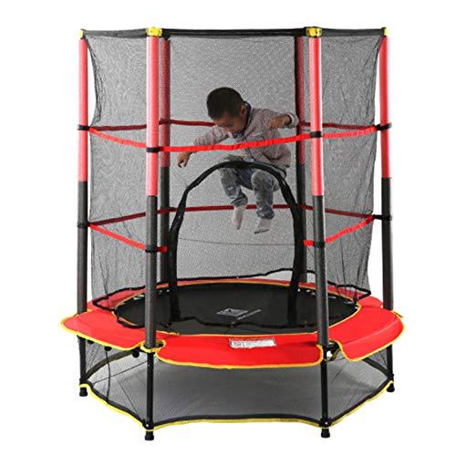 Kid Binnen Buiten Trampoline set met rok en Safety Net, Cardio Workout Silent Bounce, kan maximaal 100 Kg, Conditietraining En Fitness