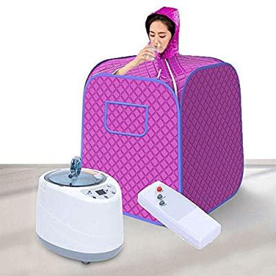 Home Steam Sauna - Portable Spa Saunas Steamer Steam Generator with Tent & Remote Control for Weight Loss Body Slimming, 110V 1000W 2L Sauna Heater