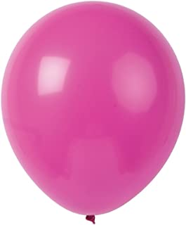 Topenca Supplies Party 12-Inch Solid Latex Balloons, 50-Pack, Fuchsia