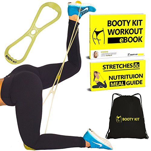 Booty Kit Belt Resistance Training Band Workout System- Targeted Program to Build, Tone &...
