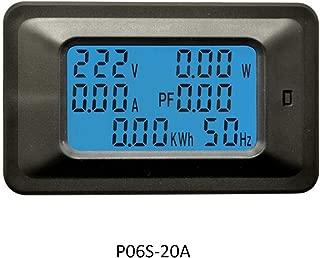 Voltmeter, KKmoon P06S-100A 6 IN 1 AC 110-250V Digital Voltage Meters Indicator LCD Power Energy Voltmeter Ammeter Current Amps Volt Wattmeter Tester Detector