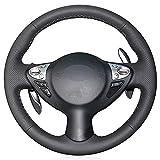NASHDZ Cubierta de Volante Cosida a Mano para Coche, Apta para Infiniti FX FX35 FX37 FX50 2009-2013 QX70 2013-2018 Nissan Juke 2011-2017