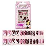 Tokkids 24 pcs uñas postizas para niñas, pre-pegado (bunny)