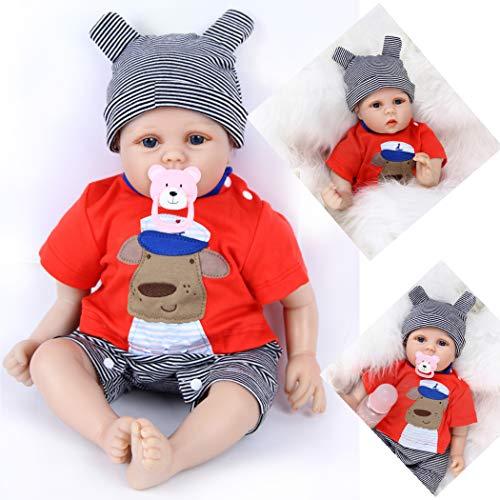 ZIYIUI 17 Pollici 45 cm Reborn Bambole Femmine Silicone Morbido Vinile Bambola Reborn Originali Bambole Per Bambini Reborn Baby Regali di Festa