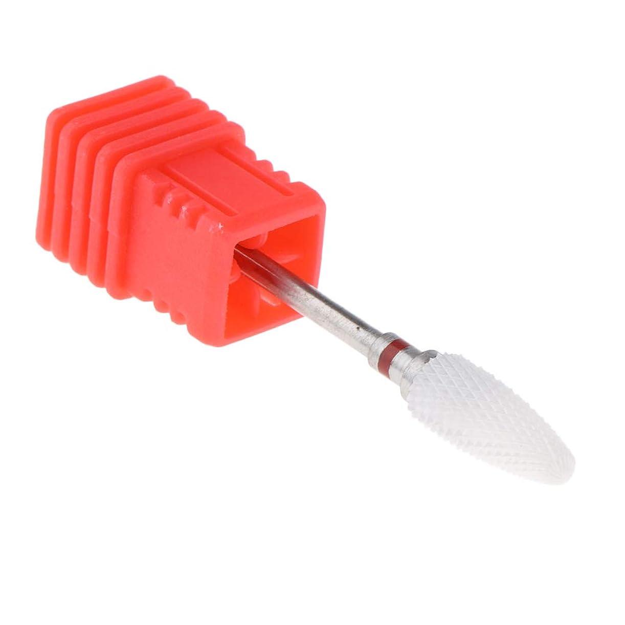 ブレースマイクロフォン聡明B Blesiya ネイルドリルビット 電気ドリルビット 研磨ヘッド ネイルアートツール 全3色 - 赤(細)