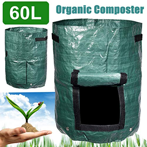 Sale!! AloPW Yard Waste Bags Garden Composter Bin Grow Bag 60L Eco Friendly Organic Compost Storage ...