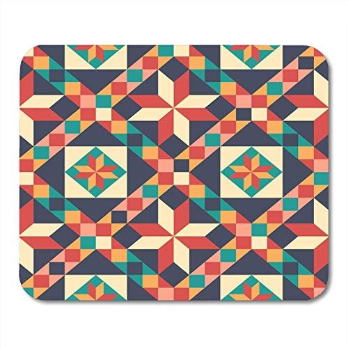 Preisvergleich Produktbild Mouse Pad Yellow Quilt in Patchwork Muster Dreieck Rustikale Abstrakte Mousepad für Notebooks,  Desktop-Computer Mausmatten,  Büromaterial