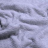 Stoff am Stück Stoff Baumwolle Plüsch Teddy hellgrau