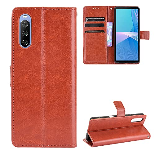 Price comparison product image SWMGO® Wallet Flip Case Compatible for Sony Xperia 10 III(Pattern 4)