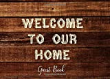 Welcome To Our Home Guest Book: Sign In Log Book for Vacation Rental, Bed & Breakfast, Travel Reference - Rustic Cabin Dark Wood [Idioma Inglés]