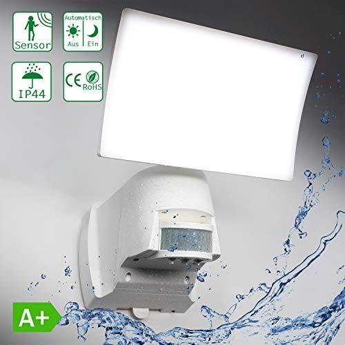 Extra LED-wandlamp voor buiten 1000 lm met bewegingsmelder lichtsensor IP44 waterdicht buitenlamp instelbaar WTT-1018