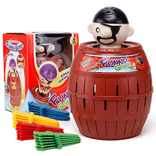 ESZH Pirate Barrel Creative Jouets interactifs Jouets, Un Jouet Qui favorise l'amitié, Jouets Bureau, Convient aux Enfants de Trois Ans,C