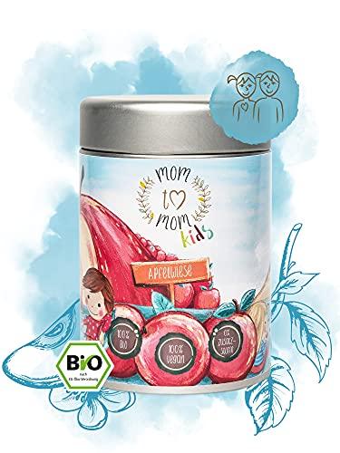Mom to Mom® Kinder Bio Früchtetee lose - Der Kindertee für unsere Liebsten (Früchte Tee & Erdbeer Tee) 130g Loser Tee (Apfelwiese)