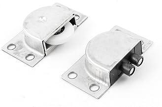 DealMux 70mmx21mmx18mm 4 Ruedas de acero inoxidable correderas de rodillos para puerta