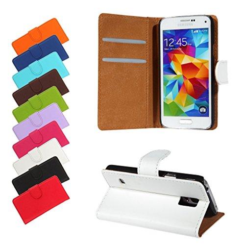 BRALEXX Bookstyle Tasche für Samsung Galaxy S5 Mini G800F weiß