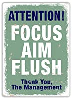 Focus Aim 金属板ブリキ看板警告サイン注意サイン表示パネル情報サイン金属安全サイン