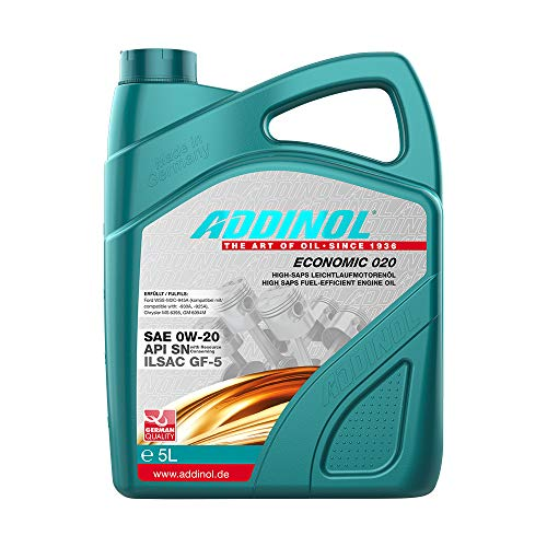 ADDINOL ECONOMIC 0W-20 Motorenöl, 5 Liter