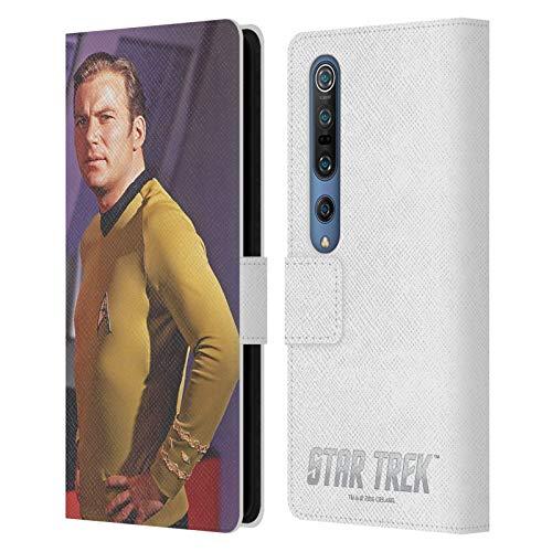 Head Case Designs Oficial Star Trek Media Pose Capitán Kirk Carcasa de Cuero Tipo Libro Compatible con Xiaomi Mi 10 5G