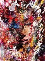 SJYHNB 大人のための番号でペイントします 北欧スタイルの女性 3つのブラシとアクリル画でキャンバスに描くDIY油絵キット、キャンバスアートワーク絵画ギフト装飾 40 x 50 cm(フレーム無し)