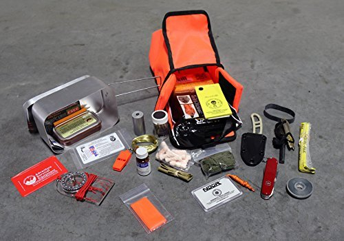 ESEE - Large Tin Survival Kit and Pouch - Orange by ESEE