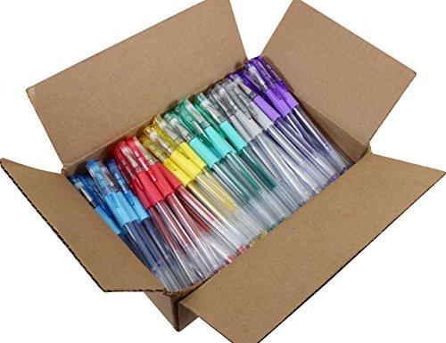 Sargent Art 96 Assorted Glitter Gel Pen Bulk Pack, Multicolor