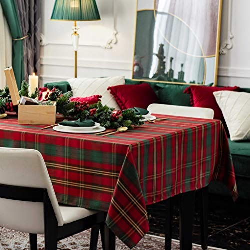 Hosonson Christmas Rectangle TableCloth60x144inch- Waterproof HolidayDecorationTablecloth- ReusableWipableFabricTableLinenCover for Kitchen, Indoorand Outdoor