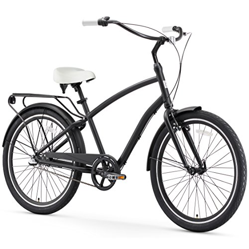 sixthreezero EVRYjourney Men's Hybrid Alloy Beach Cruiser Bicycle OR eBike 250W and 500W Electric Bike, 26-Inch