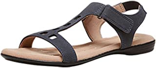 Women's Officewear Leather Thong Sandal Red and Black Color (Size 10)