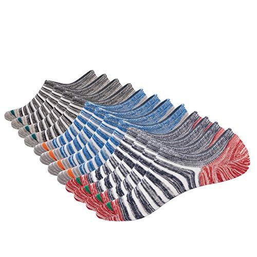 Sin Calcetines para Hombre Calcetines Antideslizantes de Algodón de Corte bajo Forro Calcetines Ocasionales Invisibles Zapatillas de Deporte Cómodas Calcetines Planos Zapatos Náuticos Mocasines