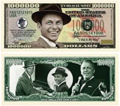 Pack of 10 - Frank Sinatra Million Dollar Bill - Best Gift For Fans Of Old Blue Eyes