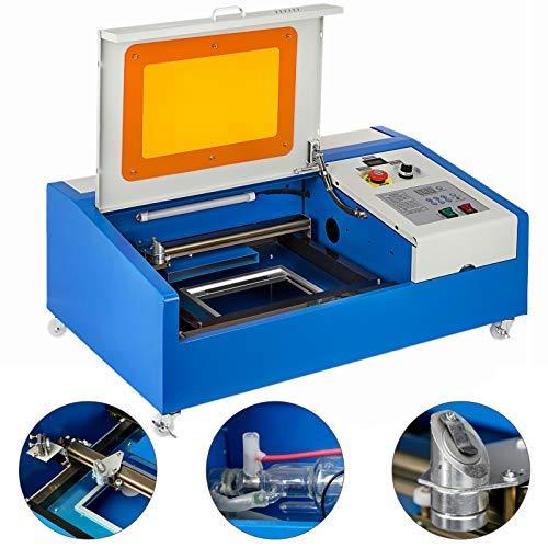 Guellin 40W Máquina de grabado láser CO2 Grabador Láser 30x20cm Máquina de corte por láser K40 Laser Engraving Machine con Puerto USB Pantalla LCD