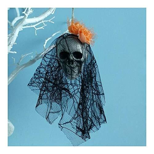 ZHEND Suministros Colgantes Cráneo Adornos De Espuma Novia del Cráneo Ropa Bone Head Escena Materiales Caseros Partido del Festival De Halloween Decoración Diseño (Color : H)