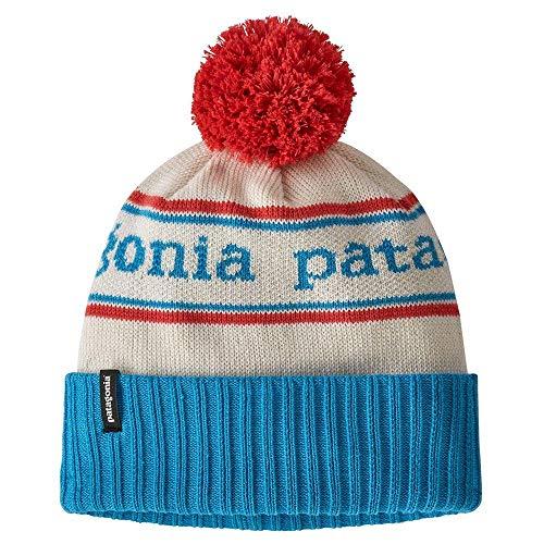 Patagonia K's Powder Town Beanie Baskenmütze, Parkstreifenstrick/Juwelen-Blau, Einheitsgröße
