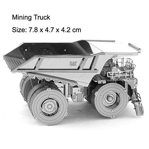CTDMMJ Vehículos de construcción Camiones 3D Metal Puzzle Modelos Kits DIYEnsamblar Jigsaw Toy Decoración de Escritorio