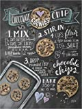 Poster 50 x 70 cm: Chocolate-Chips-Kekse Rezept (Englisch)