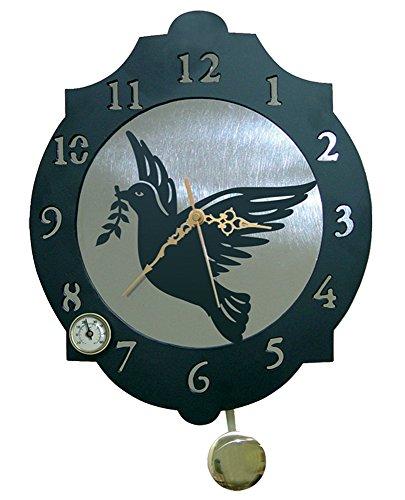 IMEX EL ZORRO El Zorro 11362-Reloj Paloma, 374 x 312 mm, Metal, Gris, 40x34x7 cm