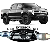 LED light part for Toyota Tundra Xenon White LED Package Upgrade - Interior + License plate/Tag + Vanity/Sun Visor + Reverse/Backup (19 pieces)