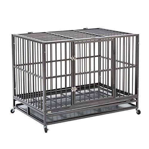 Sliverylake Heavy Duty Metal Dog Crate