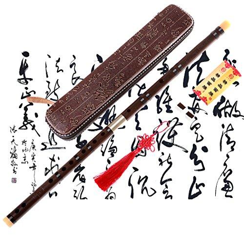 Professionelle Flöte Dizi, NICOSHINE Chinesisches Instrument im Alter von Palisander Dizi D Key