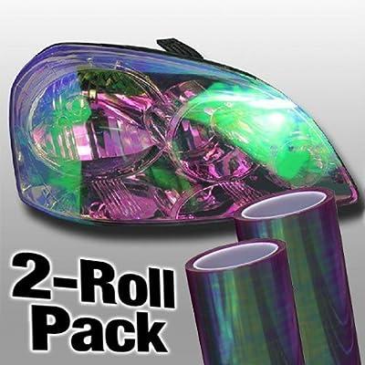 "Chameleon High Gloss Vinyl Headlight Foglight Wrap Tint Adhesive 12"" x 24"" 2-Roll Pack"