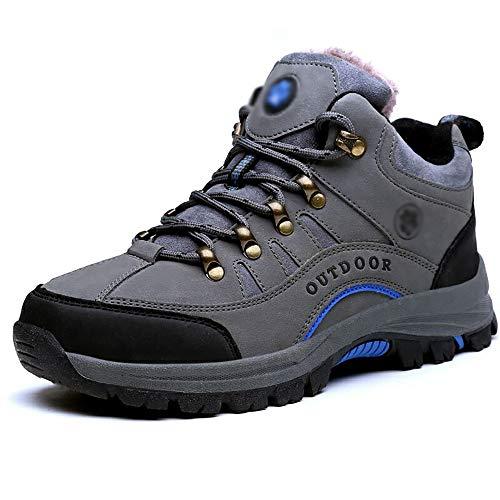 Unbekannt Herrenschuhe Winter Warme Schuhe Herren Verdickung Outdoor Schneeschuhe Mittlere Und Alte rutschfeste Schuhe Bequeme Arbeitsschuhe (Color : A, Size : US11.5/EU43/UK9.5/CN45)