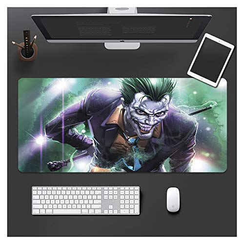 IMBMW Anime Mauspad Größe (800X300X3MM) Groß Gaming Mousepad Design:Rutschfeste Unterseite aus Gumm - Vernähter Rand geeignet für Office und Büro sowie Tastatur Smiley-1