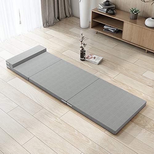 Tri-Fold Multifunctionele inklapbare matras, opvouwbaar, gymnastiekmat voor thuis, oefeningsmat, kantoor, pauze, fitnessmat voor thuis, gemakkelijk op te bergen, met handgrepen 60 * 200 * 5.5cm A04