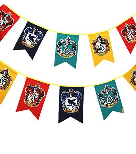 birthday decor for harry flag potter Wall Banner, gryffindor | hufflepuff | ravenclaw | Casa Slytherin bandera de decoración (3m 12pcs)