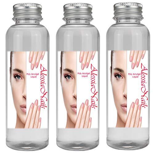 3x 100 ml Polyacryl Gel Liquid - Acrylmodelage - Nagelmodelage