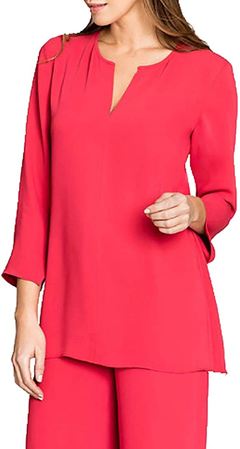 Nic+Zoe  Harbour Town Top  Cosmo Red