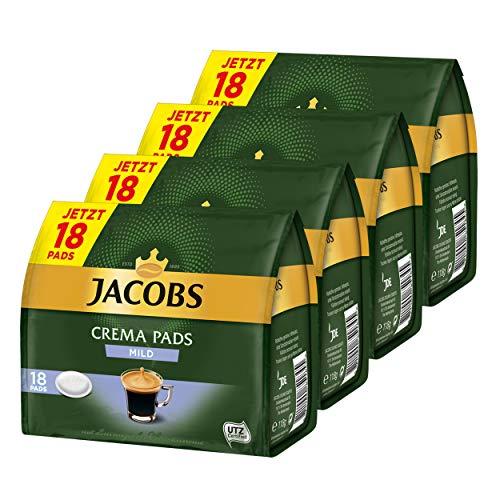 Jacobs Kaffeepads Crema Pads, Mild, Milder & Weicher Geschmack, Kaffee, 64 Pads