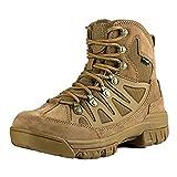 Free Soldier Botas tácticas de Tiro Medio Alto Zapatos de Trekking de Invierno Botas de Cuero,...
